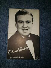 Richard Himber 1940's-50's Mutoscope Music Corp of America Postcard