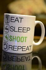 EAT SLEEP Shoot Sublmation Mug Bithday Gift Sport Hobby Clay Pigeon Personalised