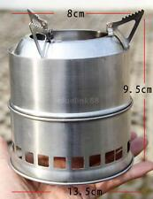 Outdoor Camping Stove Cooking Supplies Equipment Gear Solo Wood Burning New