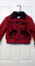 Boy's Size XL RedHead Kids Red and Black Wool Cowboy Coat