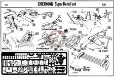 Verlinden 1/35 M4 Sherman Tank Super Detail Set WWII [Photo-etch Update] 263