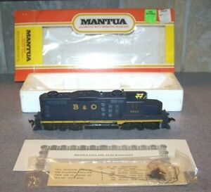 MANTUA MAKERS OF TYCO B+O GP 20 EARLY RARE OLD TYCO NUMBERS MINT!