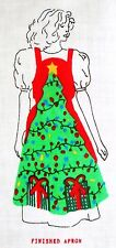 Fabric Traditional Christmas Tree Apron Cotton  by Yuletide Crafts 1991