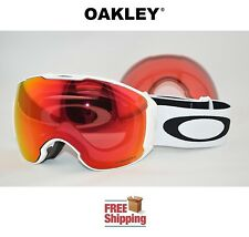 OAKLEY® AIRBRAKE™ XL PRIZM™ SNOW BOARD SKI GOGGLES WHITE W/ TORCH MIRROR & ROSE