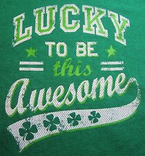 Children or S Adults Lucky to Be This Awesome St. Saint Patrick's Day Tee M-XXL
