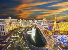 Wall mural photo wallpaper 315x232cm Las Vegas USA night city view home decor