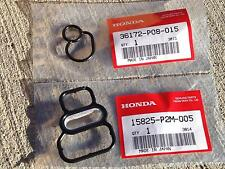 OEM Honda 96-00 Civic EX D16Y8 Del Sol Upper & Lower VTEC Solenoid Gaskets P2M