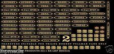 TRIANG HORNBY PULLMAN CAR NAMES / No's RENAMING 2 / CHURCHILL CARS LHP HD065C