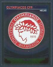PANINI UEFA CHAMPIONS LEAGUE 2007-08- #264-OLYMPIACOS TEAM BADGE-SILVER FOIL