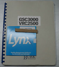 BURK TECHNOLOGY GSC3000-VRC2500 TRANS REMOTE CTR'L SYS MANUALS W/ SW QUANTITY