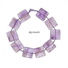 "10 Large Ametrine Flat Square Beads 20mm 8"" #55156"