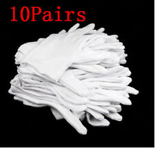 New 10 Pairs White Cotton Gloves Moisturising Health Work Hand Protection Safety