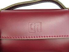 Trevor James Leather Flute Case Cover/Bag - Cherry Red - NO SHOULDER STRAP