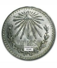 1922-1945 Mexican .720 Silver Un Peso Large Cap and Ray Random Yrs. Coin
