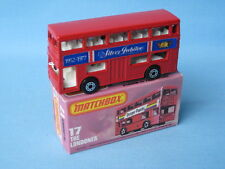 Lesney Matchbox Londoner Bus Red Body Silver Jubilee Rare and Boxed MB-17