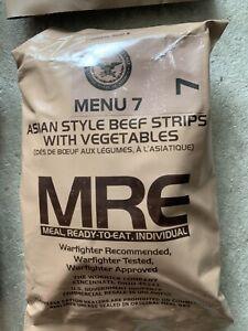 Orig. MRE US Army Menu Asian Style Beef Strips
