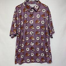 Everything Bagel Polo Shirt Lays Potato Chips Hawaiian Promo Promotional Purple