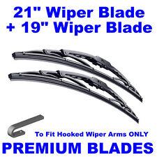 "Premium 21"" Inch & 19"" Inch Pair Front Windscreen Wiper Blades"