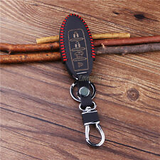 Leather Smart Key Fob Cover Case For Nissan Maxima Altima Murano Pathfinder 4BTN