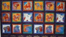 Embracing Horses Panel By Laurel Burch for Cothworks-18 Total Squares