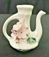 Vintage Miniature Porcelain Bud Vase from NUOVA CAPODIMONTE ITALY Pitcher Shaped