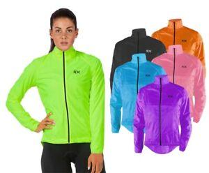 Woman Cycling Jacket Highly Visible HI VIZ Windproof Showerproof Breathable Top