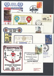 FIVE Random GB Football Club Covers Various Matches & Clubs Mixed Decades