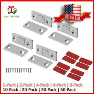 Drawer Magnetic Door Catch Ultra Thin Cabinet Furniture Latch For Sliding (1-50)