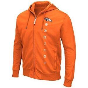G-III Sports Denver Broncos Men's Snap Fleece Full Zip Hoody Sweatshirt