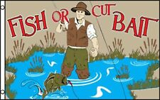 Fish Or Cut Bait Flag Banner 3' x 5' Polyester
