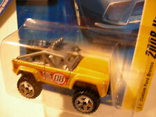 Hot Wheels Custom Ford Bronco 2008 New Models Yellow