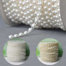 """Ruban galon perle 6mm Scrapbooking  décoration mariage fête bijoux.""""1m"""""""