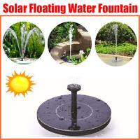 2020 Solar Powered Fountain Water Pump Floating Garden Pond Pool Fish Bird Bath