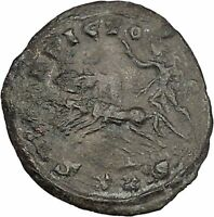 PROBUS 279AD Authentic Ancient Roman Coin Sol Sun God on horse quadriga i42337