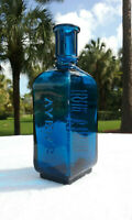 TUMBLED - 1890'S ANTIQUE AYER'S HAIR VIGOR BOTTLE!  BLOWN IN MOLD, TOOLED LIP!
