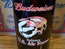 Budweiser, Salutes U. S. Air Force Glass Bottle Empty, 1 - 64 Oz King Pitcher
