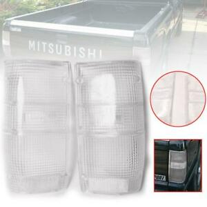 For 1987-1994 Mitsubishi L200 Triton Mighty MAX Tail Light Lamp Clear Lens LH-RH