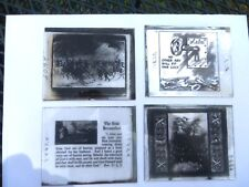 5 GLASS NEGATIVES ARCHANGELS, PHILISTINES, KEY TO HEAVEN, ETC