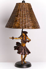 Beautiful KIM TAYLOR REECE KILOHINAN Hawaiian Dancing Hula Girl TABLE LAMP Light