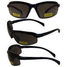 C2 Safety Shop Glasses with Blue Frame and Smoke Lenses