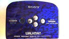 VINTAGE SONY WALKMAN PERSONAL CASSETTE PLAYER WM-E40ST - blue color