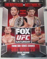 UFC on Fox 7 25x Signed Event Program PSA/DNA COA Mark Hunt Cain Velasquez Chael