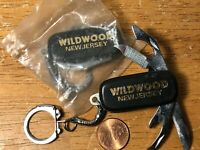 Vintage Wildwood New Jersey Keychain Knife Souvenir Lot of 2