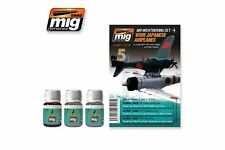 AMMO OF MIG A.MIG-7418 Wash Set WWII Japanese Airplanes 3x35ml