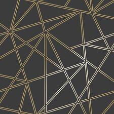 Paladium Papier peint Géométrique Noir/doré - Holden 90114