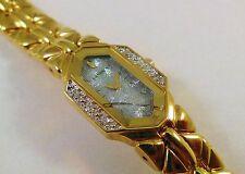 Lassale by Seiko Gold Tone Metal 2E20-2640 w/ Gemstones Sample Watch NON-WORKING