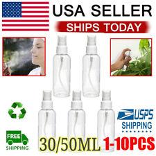 10x 30/50ml Travel Transparent Plastic Perfume Atomizer Empty Misty Spray Bottle