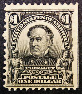 Scott #311 – $1 Farragut, M, OG, NH, SCV*=$1900