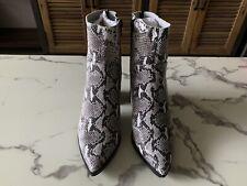 Tony Bianco Brazen Snake White boots Size 6