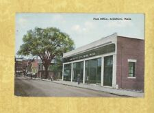 MA Attleboro 1916 postcard POST OFFICE & OTHER SHOPS Mass to Waterville Conn